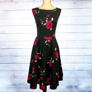 Grace Karin Boatneck Sleeveless Vintage Tea Dress